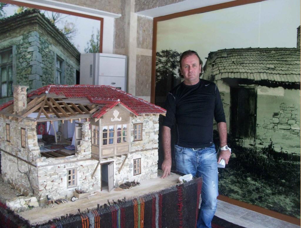 Tipik Akdeniz Köy evi Model (MAKET) Çalışmam. Evrenseki Etnografya Müzesi